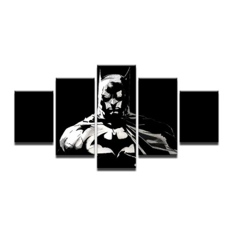 8x14inX2 8x18inX2 8x22inX1 Modular HD Painted Canvas Paintings Art Oil Painting Batman Home D cor Wall Decor pictures for Living Room Poster Atrwork (NO Frame) - intl