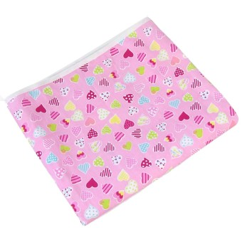 90 x 30cm Pink Heart Style Cotton Household Ironing Iron BoardTable Cover - intl