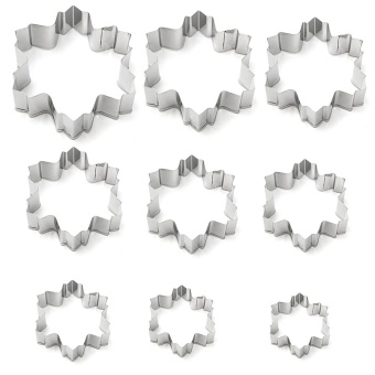 9Pcs Christmas Steel Sownflake Biscuit Cookie Cutter Fondant Cake Mold Mould Set - intl - picture 2