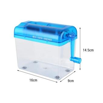 A6 Portable Mini Manual Paper Cut Shredder for Office Home School (blue) - intl - 4