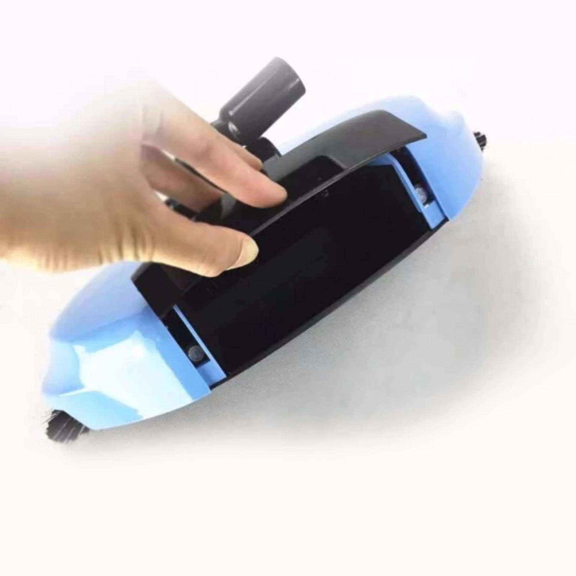 ABS Wonder Spin Broom and Dust Pan All in One (Blue)