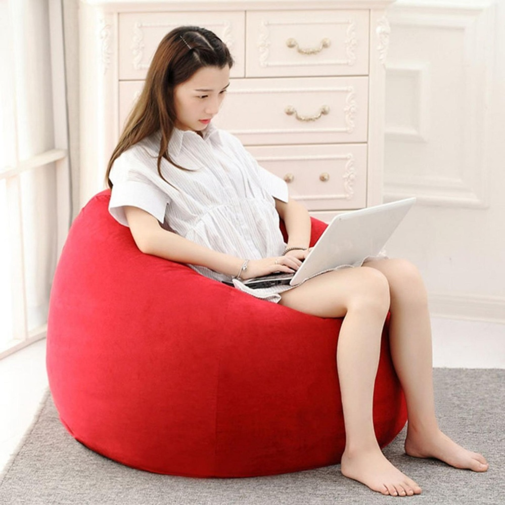 Abusun Beanbag Chair Sofa Single Bean Bag Garden Seat Lazy Sofa -intl