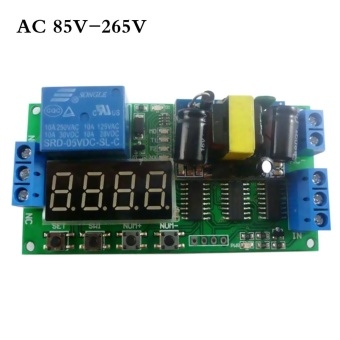 AC 110V 220V Digital Tube Multifunctional LED Time Delay Relay PLC Smart Home Timer Switch - intl