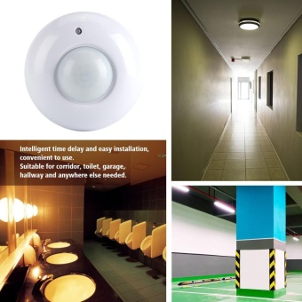 AC110-240V Adjustable Ceiling Surface Mounted Infrared Body Motion Sensor Detector Light Switch - intl