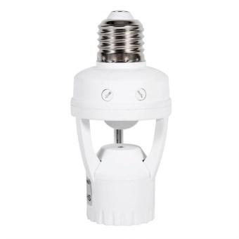 AC110-240V E27 Infrared Motion Sensor LED Lamp Bulb Light Socket With Adjustable Switch - intl - 3
