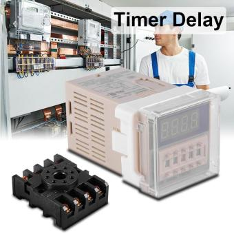 AC220V Digital Timer Delay Relay Device Programmable LED Display W/Socket BI599 - intl