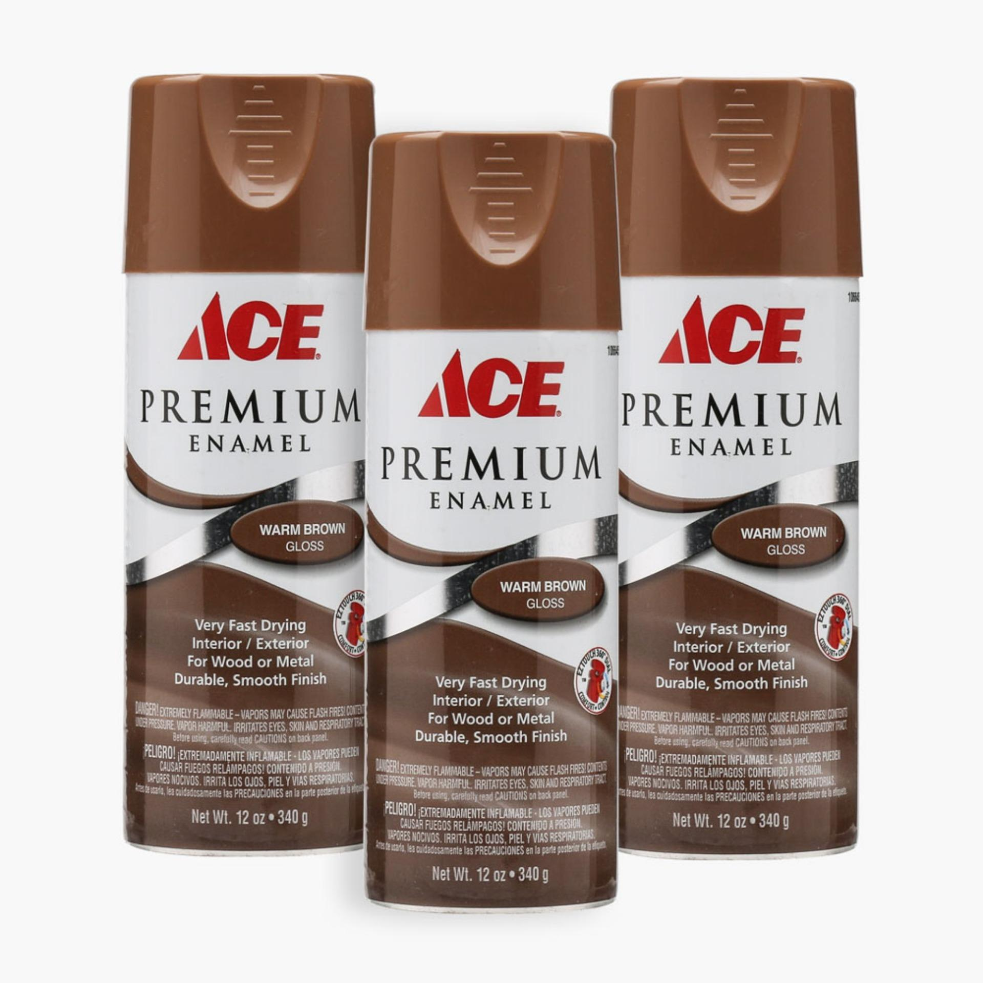 Ace Hardware Premium Enamel Glossy Spray Paint Set of 3 ...