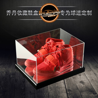 Acrylic mirror display simple shoe cabinet transparent shoe box