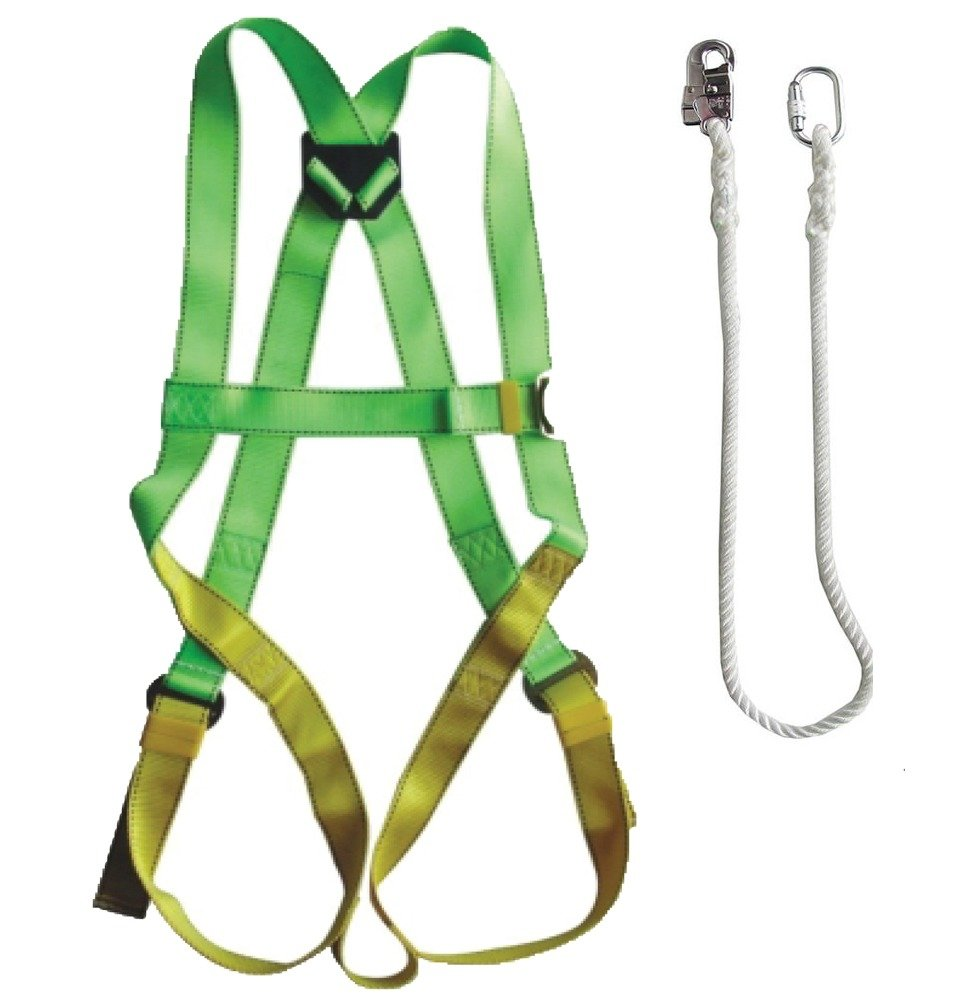 Adela Ce Approve Full Body Safety Belt Harness Fbh With Hook Lanyard Kit Set Fall Protection Philippines