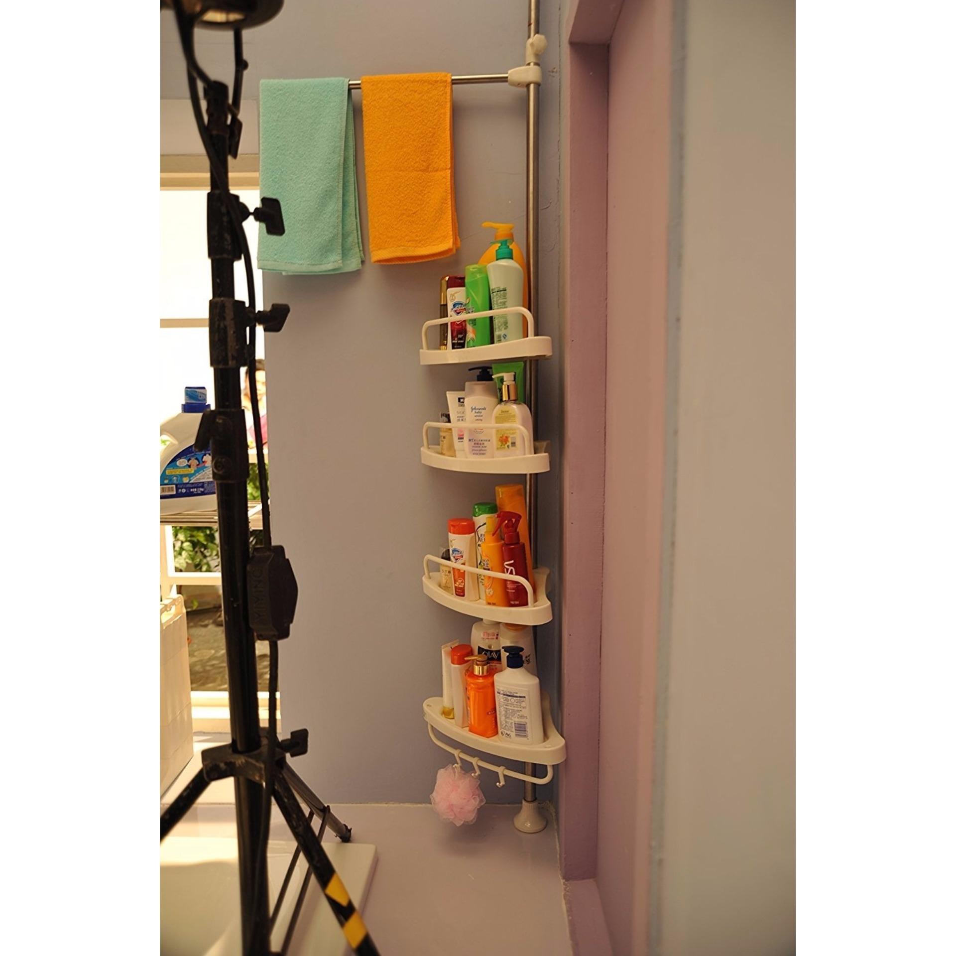 Philippines | Adjustable Bathroom Corner Pole Caddy Shower Organizer ...