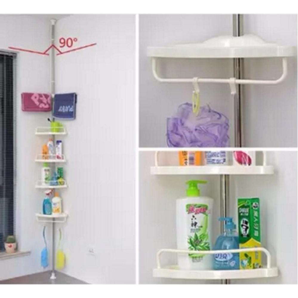 Philippines   Adjustable Bathroom Corner Pole Caddy Shower Organizer ...