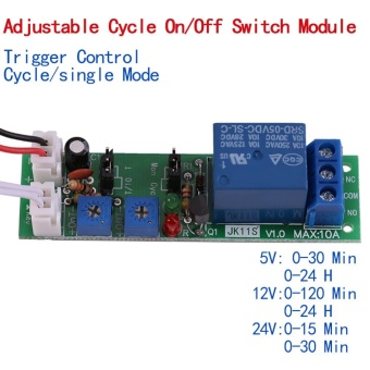 Adjustable Cycle Timer Delay On/Off Switch Relay Module(DC12V,0-24hr) - intl - 2