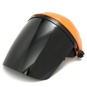Adjustable Welding Helmet ARC TIG MIG Welder Lens Grinding Mask + Safety Goggles Orange Cover + PC Black Screen - intl - 3
