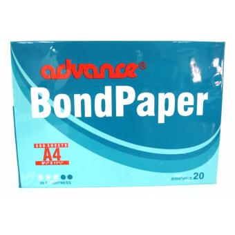 Advance Bond Paper 1 ream Total 500 sheets Size A4 8 1/4 x 11 3/4inches subtance 20