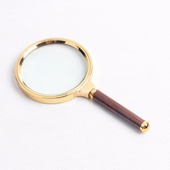 Advanced fine magnifying glass 10 times magnifying glass clear reading magnifying glass 90mm - intl