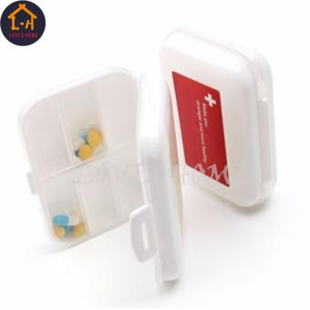 Adventurers Plastic Portable 8 Slots Pills Box Medicine TabletsStorage (White) Set Of 3