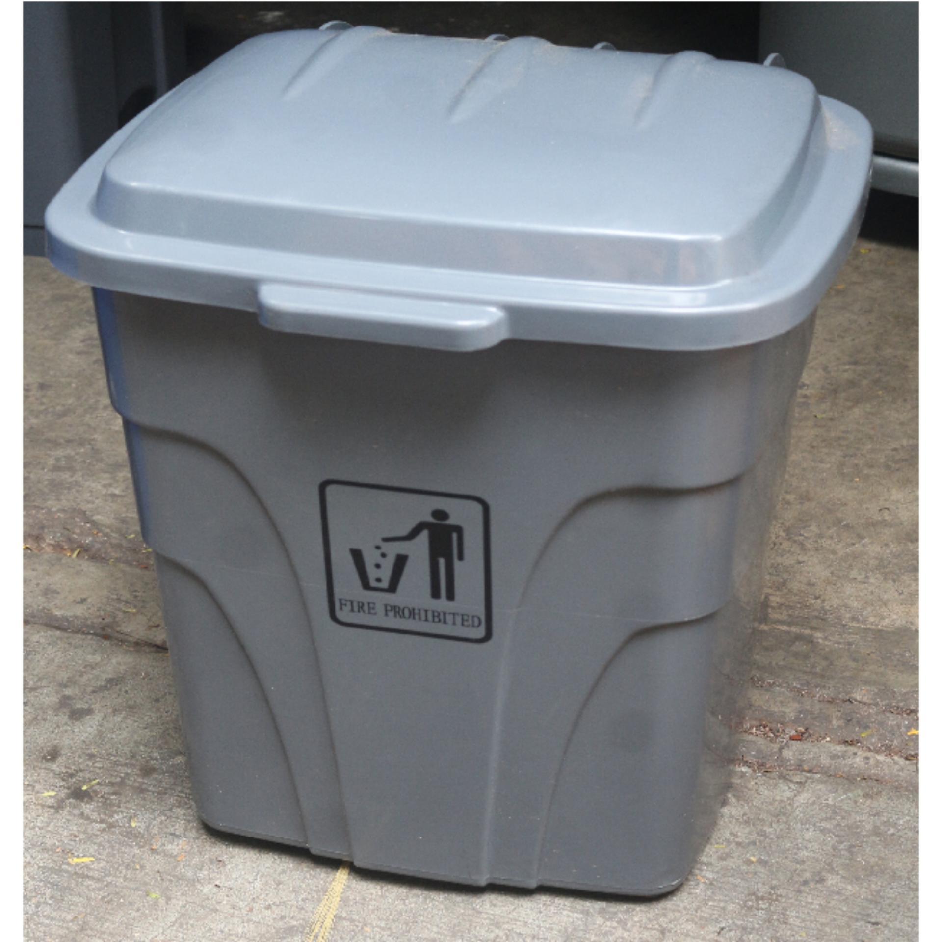 Stock Photo Three Color Coded Trash Bin For Waste Segregation