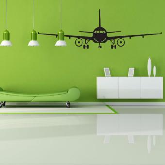 Airplane PVC Art Picture Decoration Wall Sticker Wallpaper(L) - intl - 3