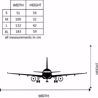 Airplane PVC Art Picture Decoration Wall Sticker Wallpaper(L) - intl - 5