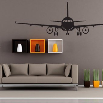 Airplane PVC Art Picture Decoration Wall Sticker Wallpaper(XL) - intl