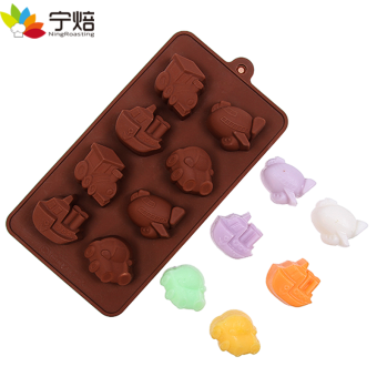 Airplane shape silicone mold DIY Chocolate Ice Tray submarine