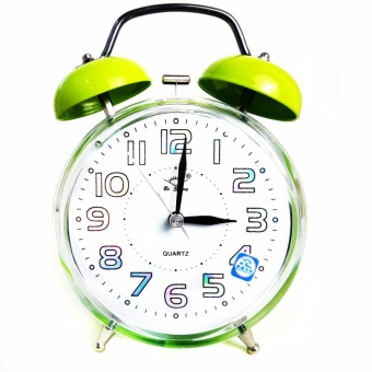 Alarm Clock on table(green)
