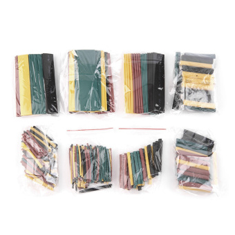 Allwin 328Pcs 5 Colors 8 Sizes 2:1 Heat Shrink Tubing WrapConnection Sleeve Kit Multicolor