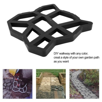 Allwin Irregular/Rectangular Patterns Pavement Concrete Brick Garden Path Maker - intl