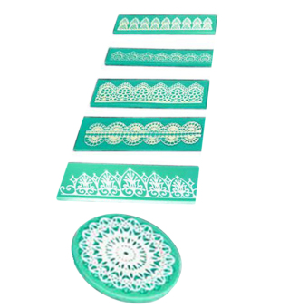Allwin Lace Shaped Silicone Embossing Mold Mould Cake Chocolate Decorating Tool