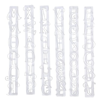 Alphabet Number Letter Cake Decorating Mold Fondant Icing Cutter Mould Set (White) - intl