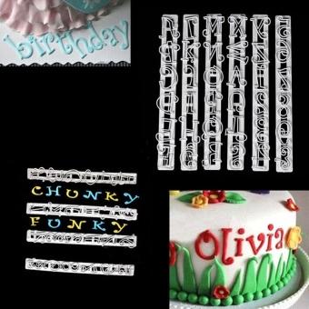 Alphabet Number Letter Cake Decorating Mold Fondant Icing Cutter Mould Set (White) - intl - 2