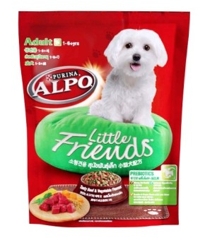 ALPO Little Friends Adult Beef & Vegetables Prebio 450g (CASE OF 6)