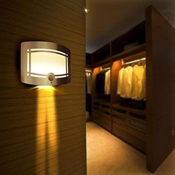 Aluminum Bright Motion Sensor Activated LED Wall Sconce Night Light- intl Price Philippines