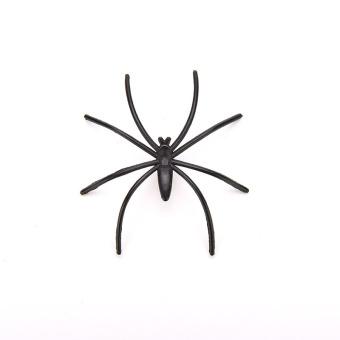 Amango Black Spider Joking Toys Plastic Set of 20