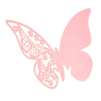 Amango Table Mark Wine Glass Butterfly Cards Set of 50 (Pink)