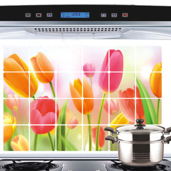 Amart Removable Tulip DIY Wall Sticker Decal Mural Kitchen Decoration - intl - 3