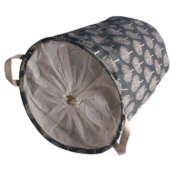 Andux Cotton Laundry Basket Foldable Hamper Storage Barrel with Handles ZYL-01 - 4