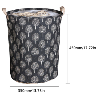 Andux Cotton Laundry Basket Foldable Hamper Storage Barrel with Handles ZYL-01 - 3