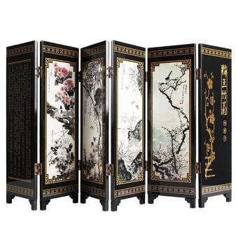 Andux Small Wooden 6-leaf Folding Screens Art Screens FGPF-01 (Plant) - intl