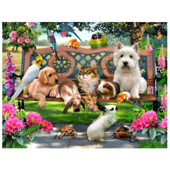 Animal Paradise 5D Diamond DIY Painting Craft Home Decor - Intl