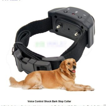 Anti Bark No Barking Training Collar Dog Behaviour Remote ElectricShock Vibration Anti-Barking for Dog & Pet - intl