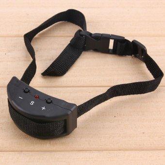 Anti Bark Pet Dog Training Collar Vibration Shock Electronic PetTrainer (Black) - intl - 4