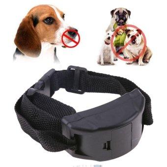 Anti Bark Pet Dog Training Collar Vibration Shock Electronic PetTrainer (Black) - intl - 2