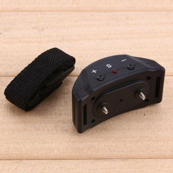 Anti Bark Pet Dog Training Collar Vibration Shock Electronic PetTrainer (Black) - intl - 5