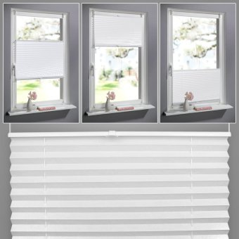 Anti-UV Window Blinds Original Pleated White Polyester Shade Curtains (80 x 130cm) - intl