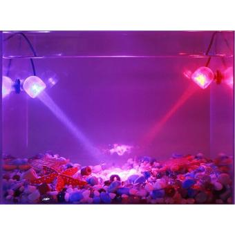 Aquarium LED Spotlight RGB Fish Tank Submersible Light with RemoteControl - intl