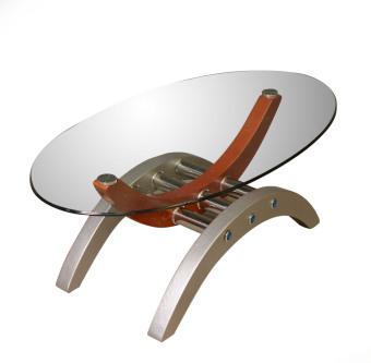 Arcs & Oval Coffee Table - 2