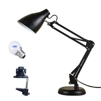 Arm Desk Lamp, C-Clamp Table Lamp, Flexible Arm, Classic Architect Clamp-on Desk Lamp - intl