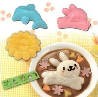 Arnest rabbit dolphin rice mold Kit
