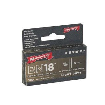 "Arrow Gun Tacker BN1810 5/8"" Brad Nail, Box of 500"
